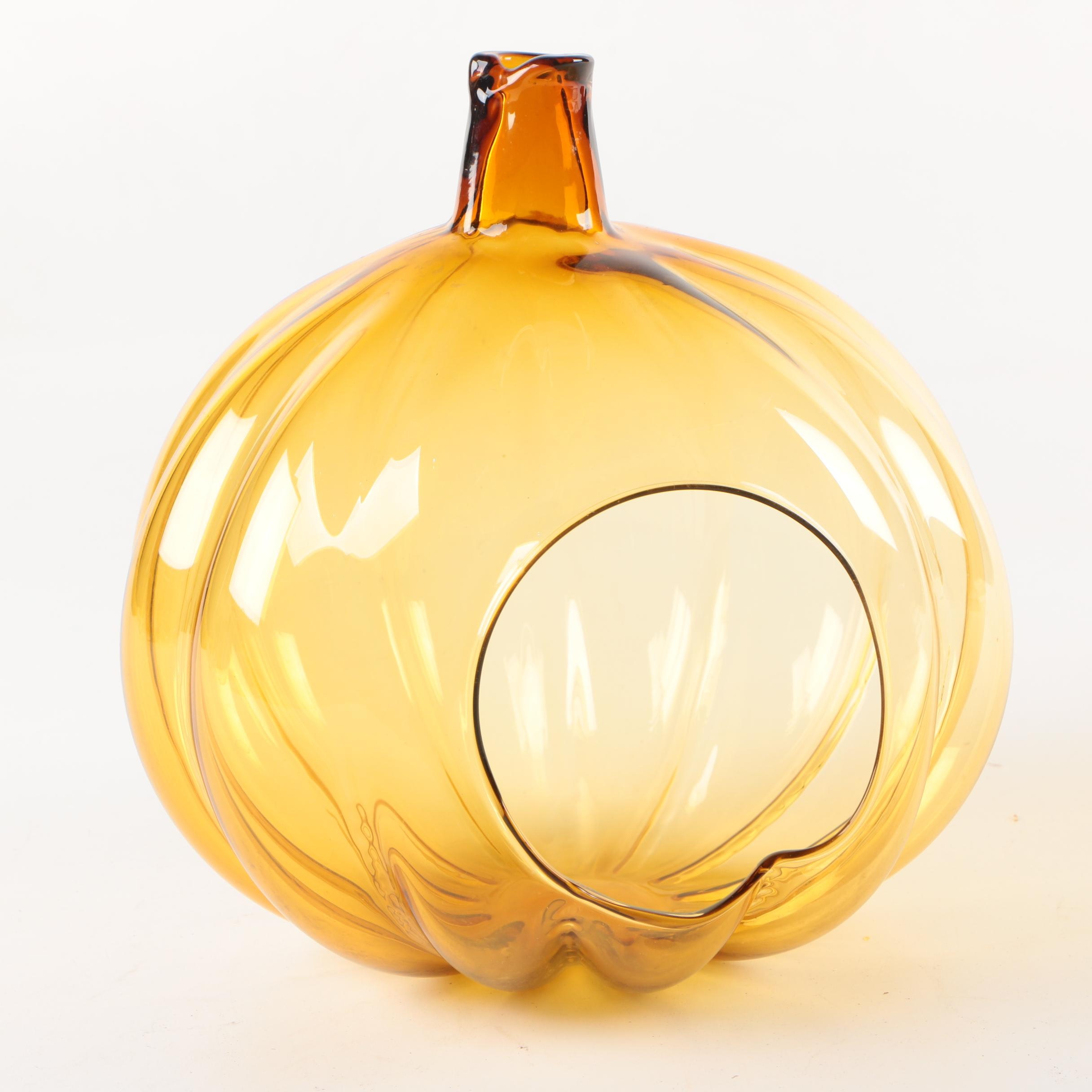 Glass Pumpkin Decor