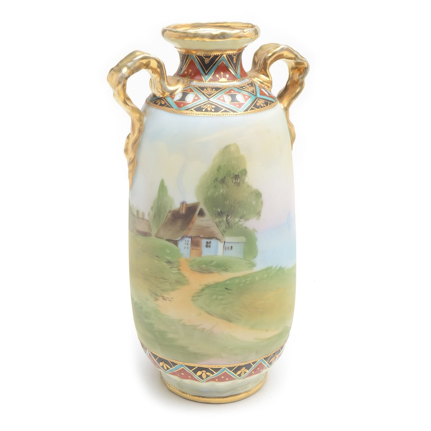 Vintage Nippon Noritake Vase Ebth