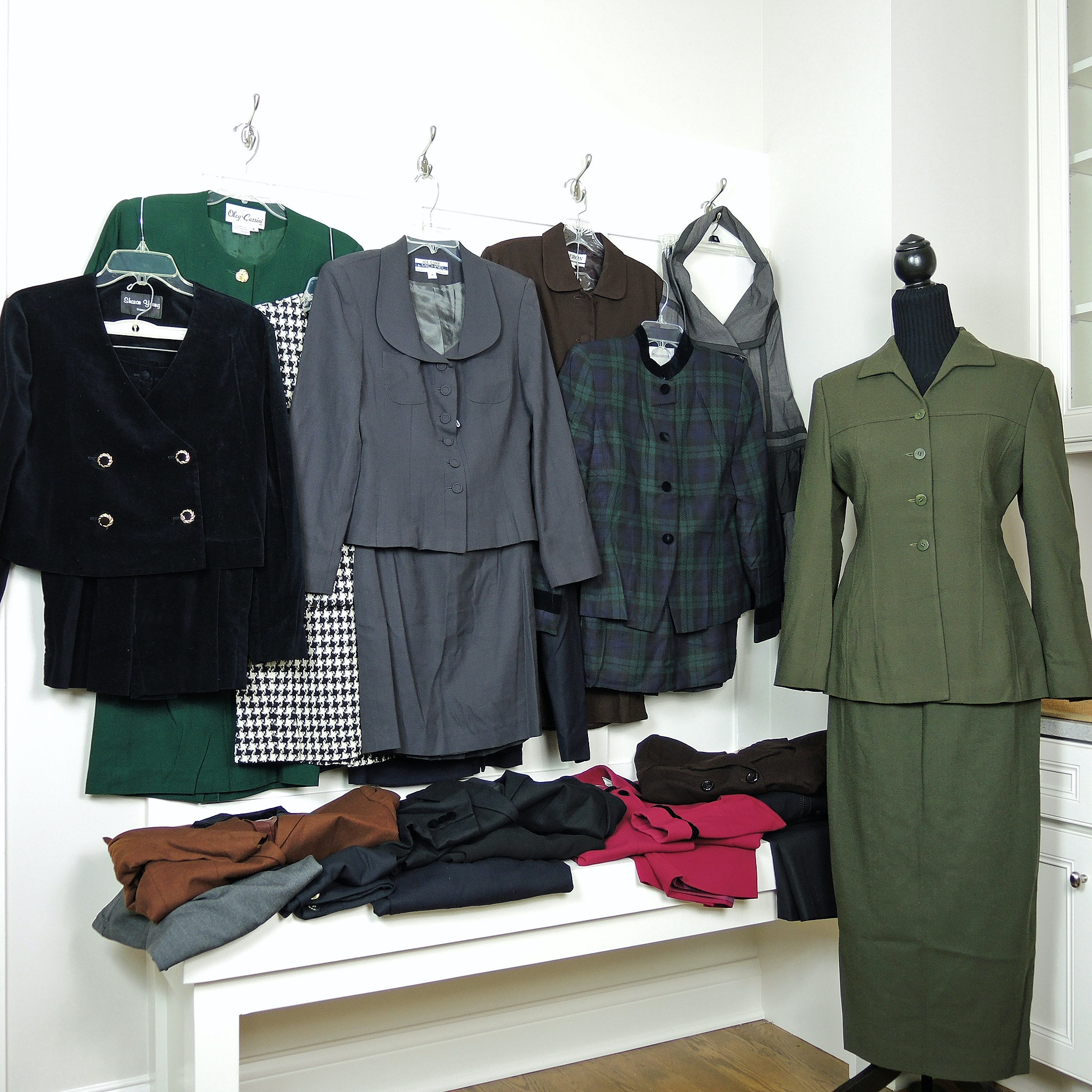 Women's Vintage Designer Suits and Clothing Including Lord & Taylor and Adolfo