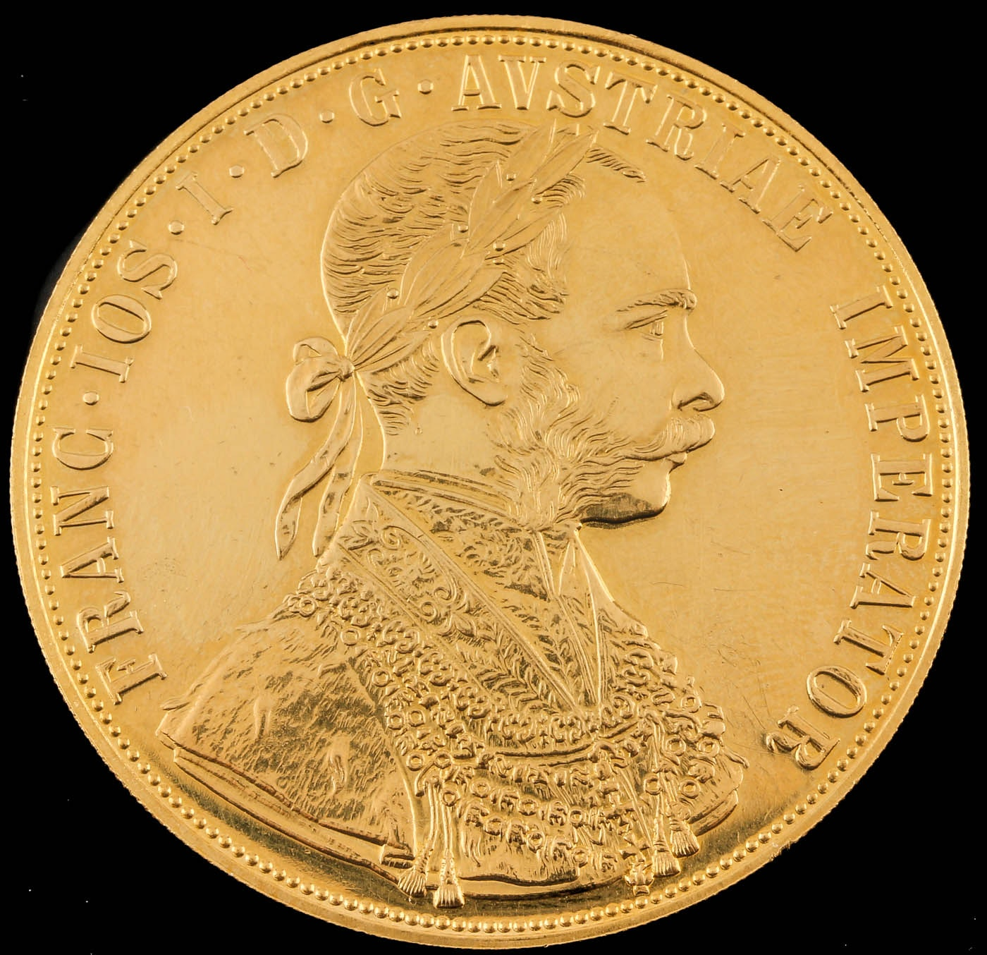 1915 Austrian Four Ducat Re-strike Gold Coin