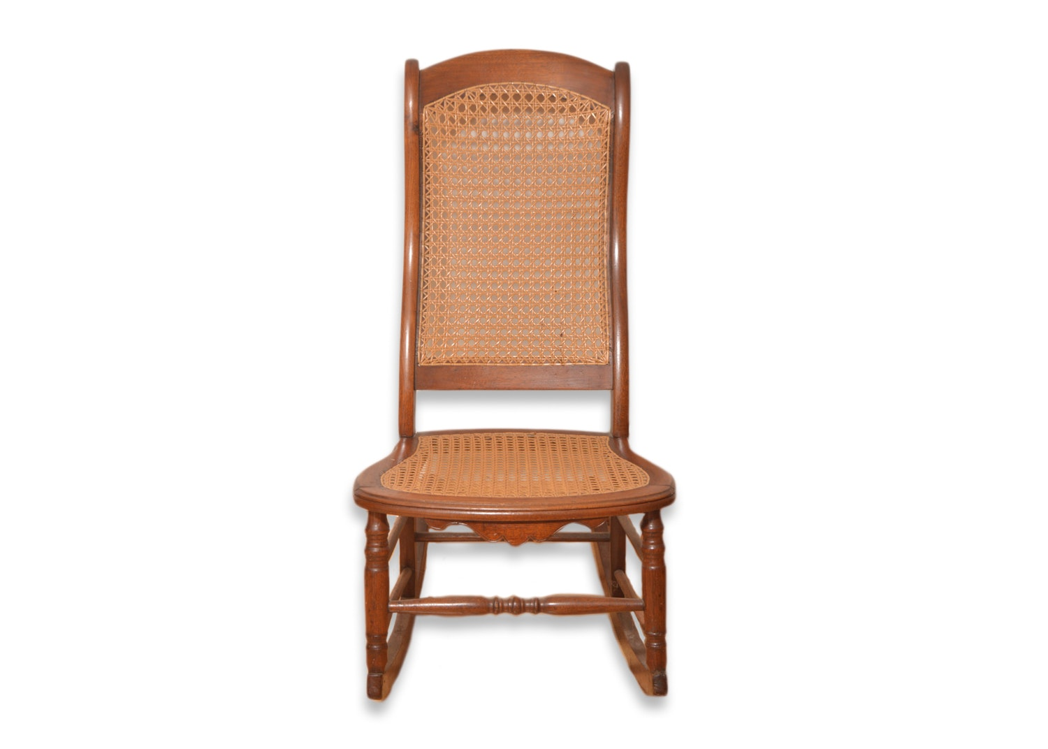 Vintage Victorian Style Caned Rocking Chair