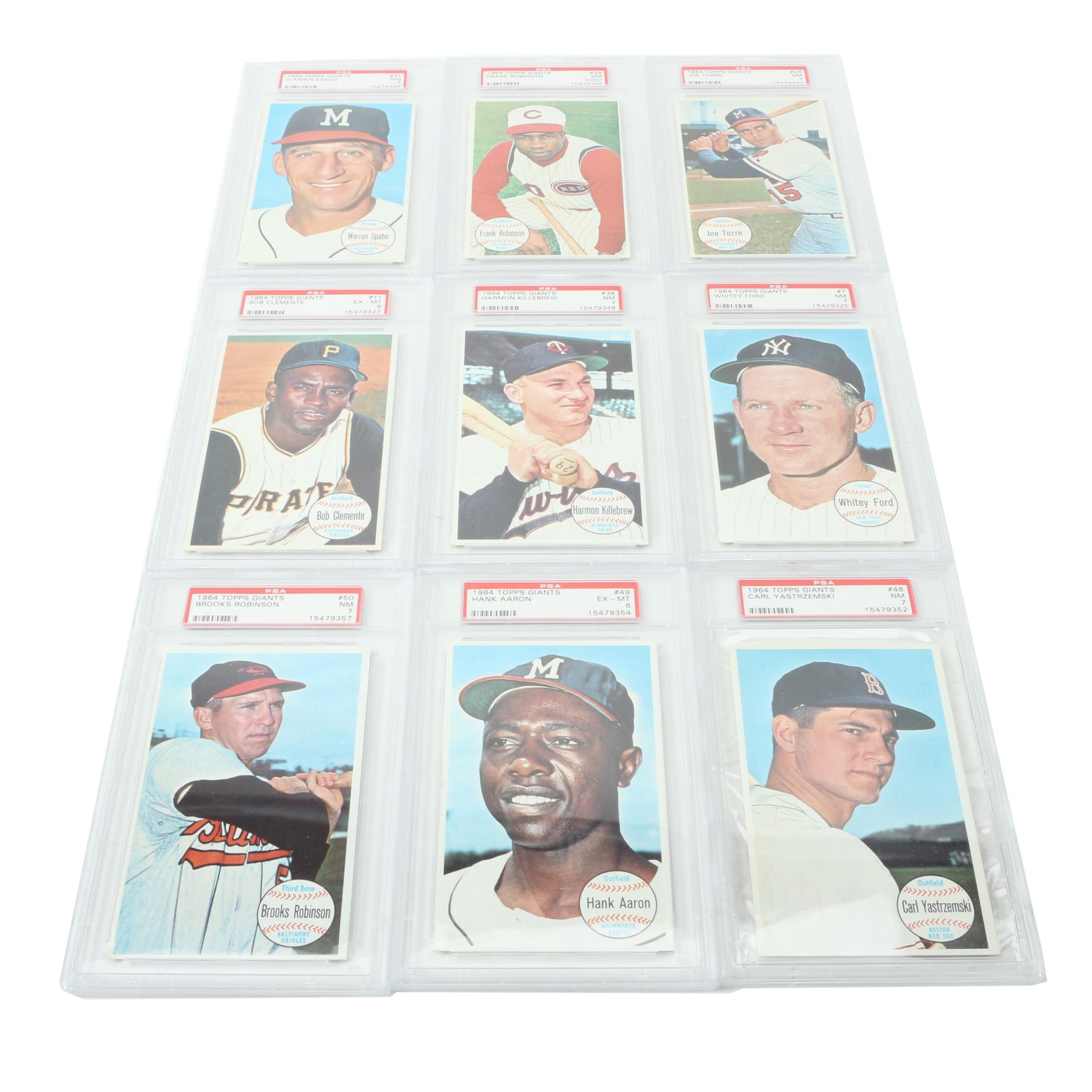 1964 Baseball Trading Cards by Topps Giants