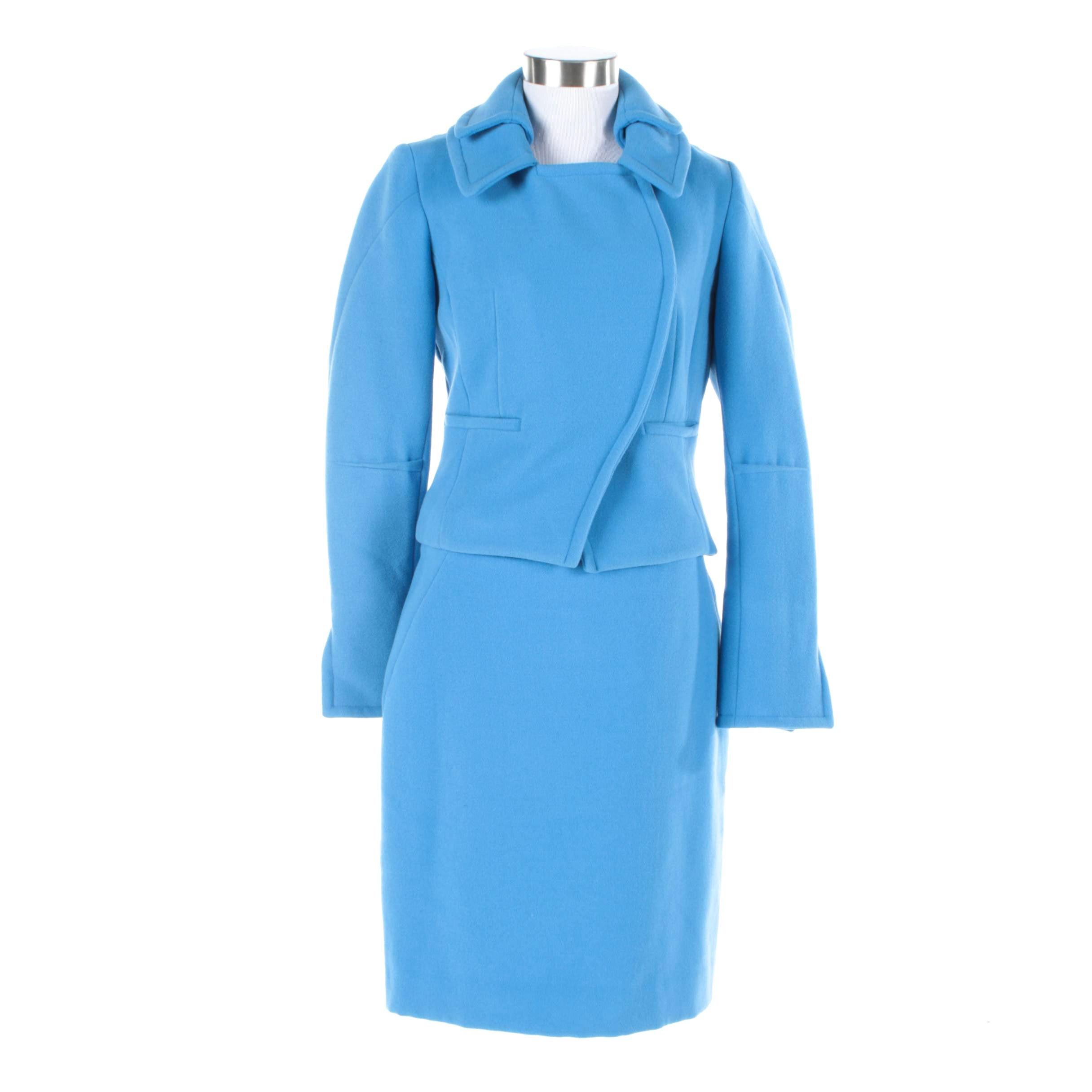 Women's Etcetera Blue Polyester Blend Suit