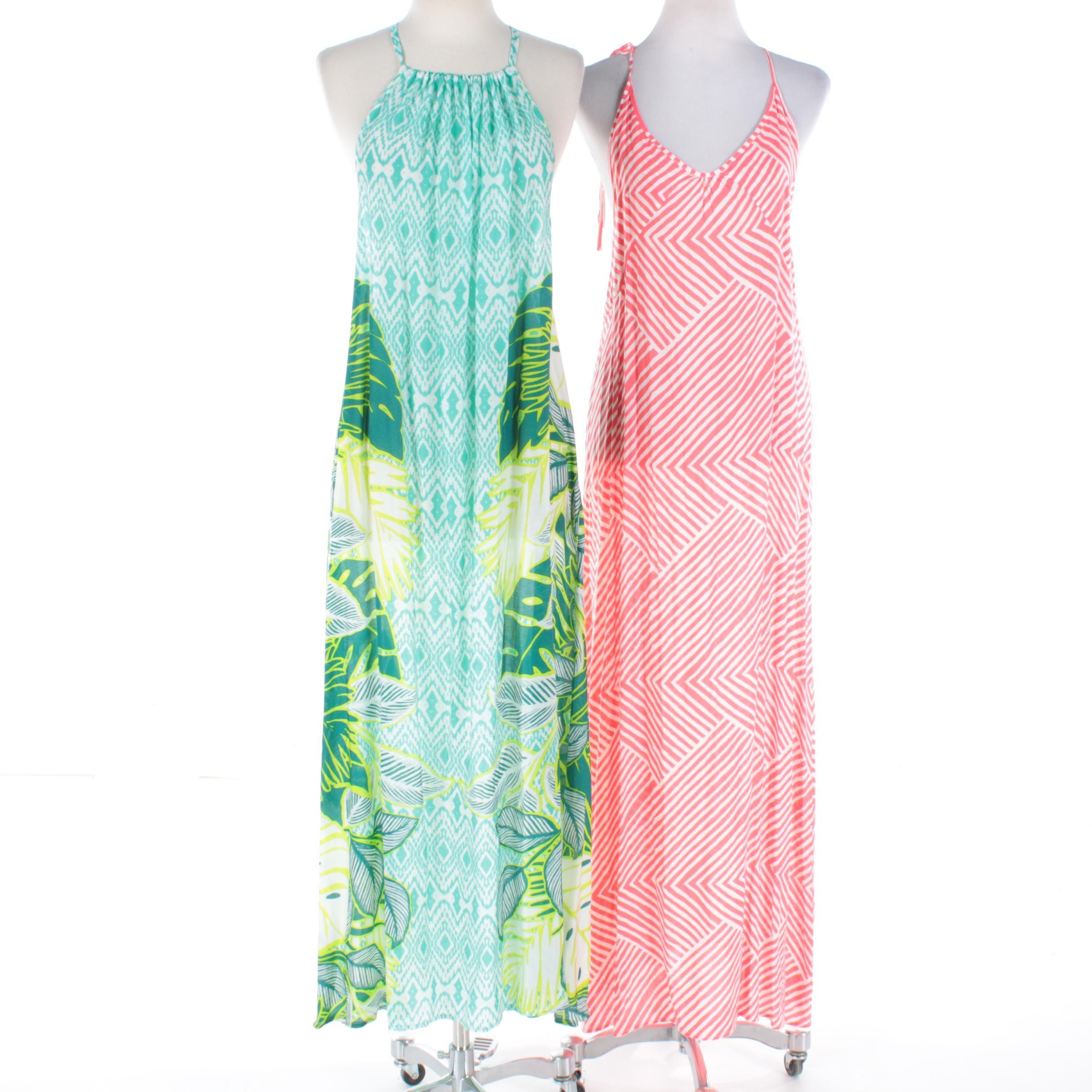 Echo Jessica and Carol Printed Sleeveless Maxi Dresses