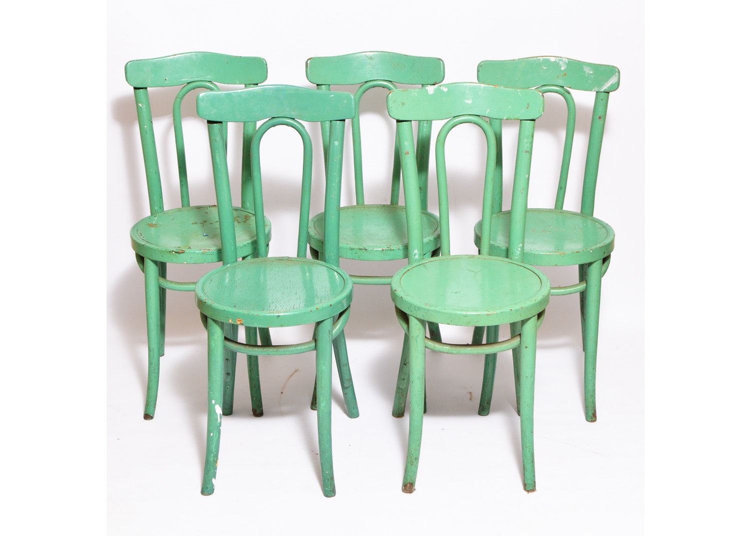 Set Of Vintage Painted Chairs ...