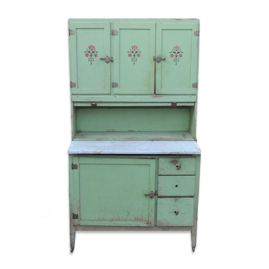 Vintage Painted Hoosier Cabinet