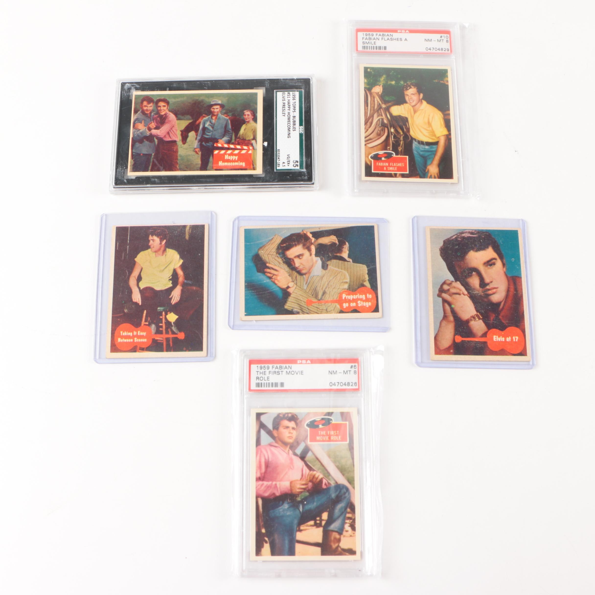 1950s Fabian and Elvis Trading Cards