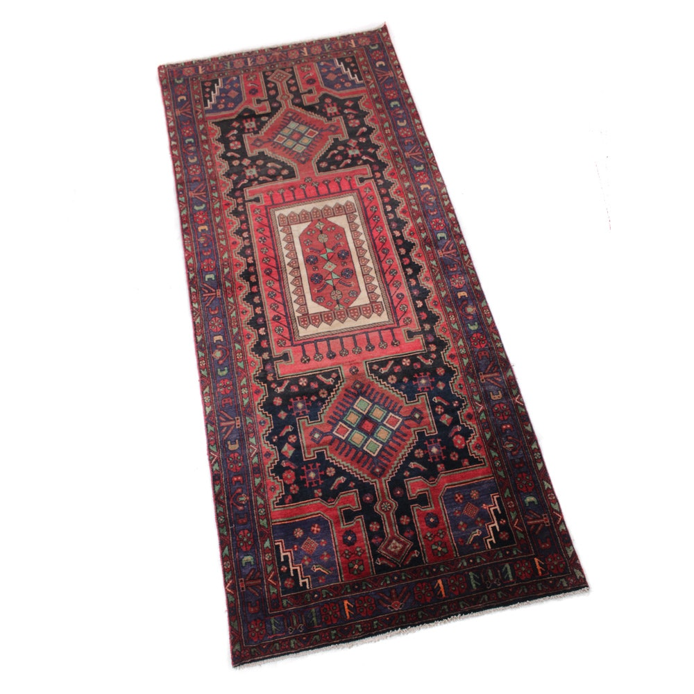 4' x 10' Semi-Antique Hand-Knotted Persian Malayer Runner