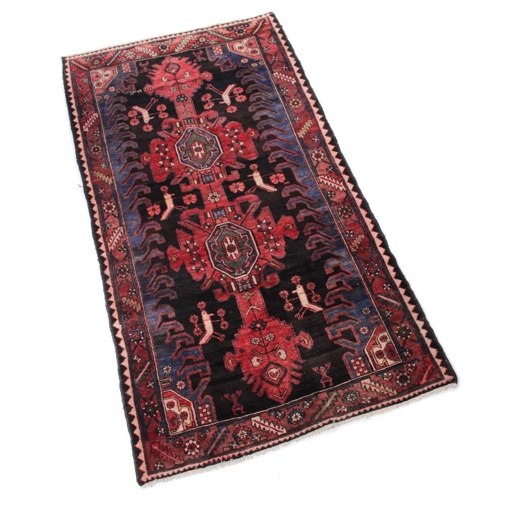 5' x 9' Semi-Antique Hand-Knotted Northwest Persian Pictorial Rug