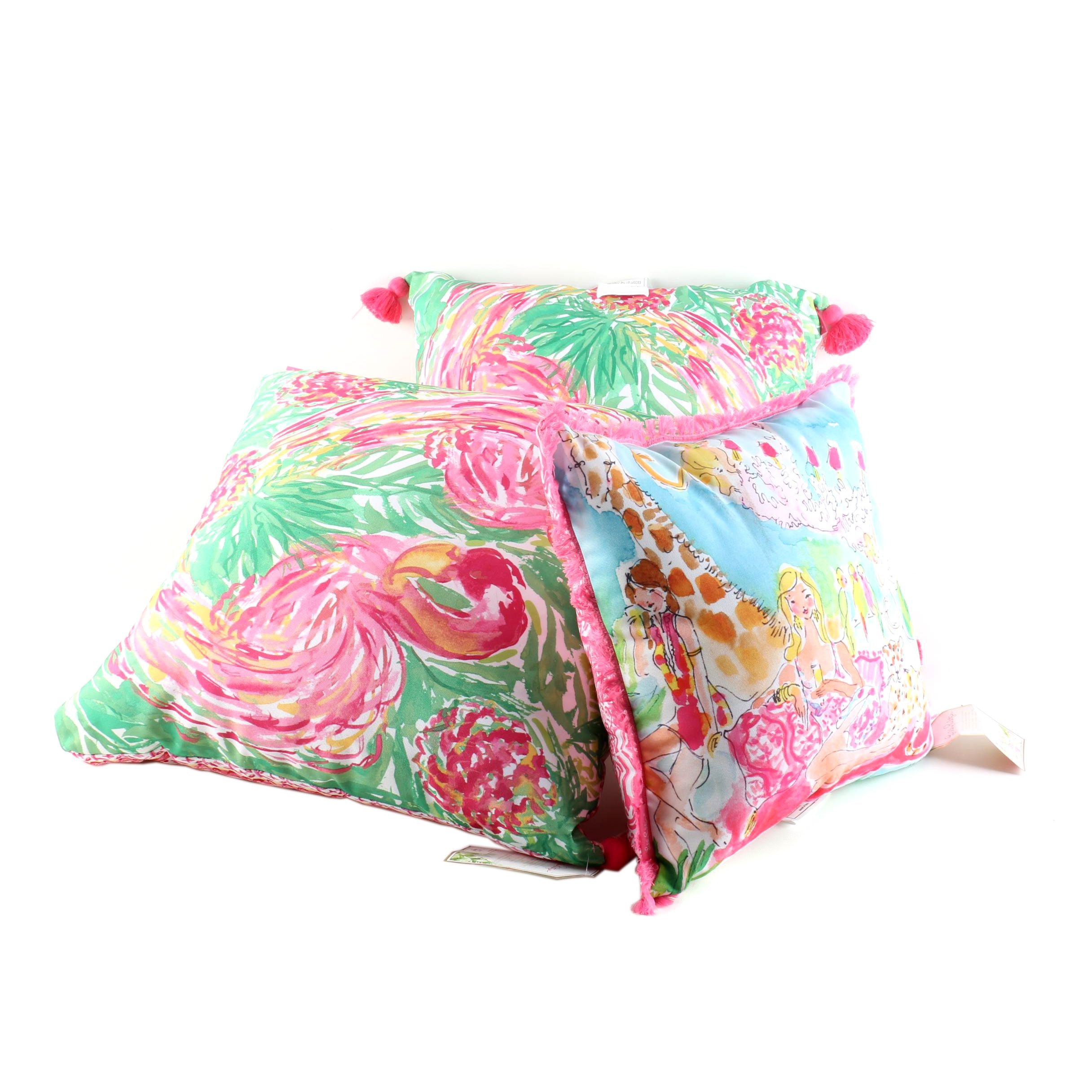 Brightly Colored Lilly Pulitzer Pillows
