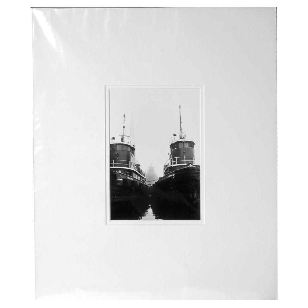 "Laura DeNardo Silver-Gelatin Photographic Print ""Ghost Tug"""