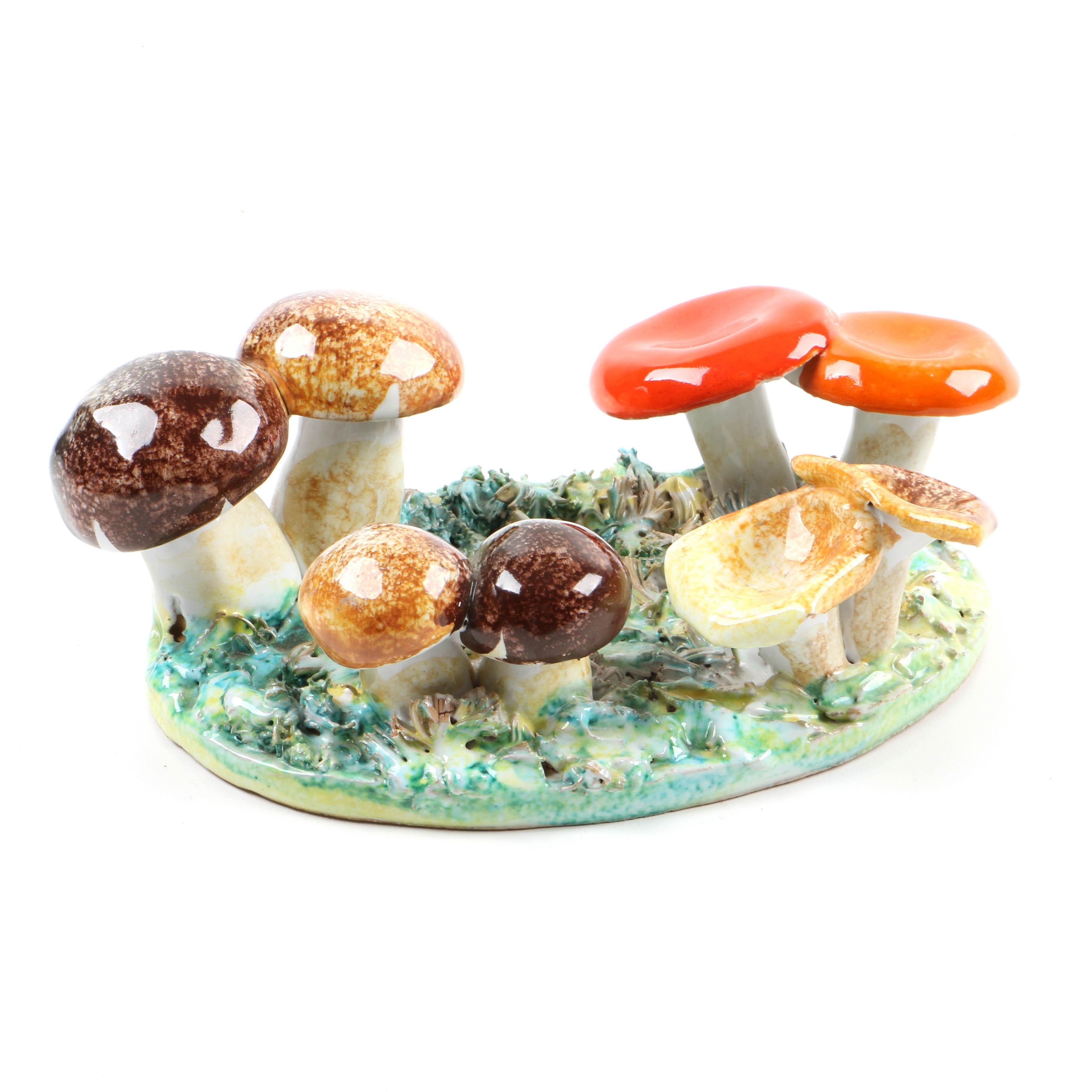 Italian Pottery Mushrooms