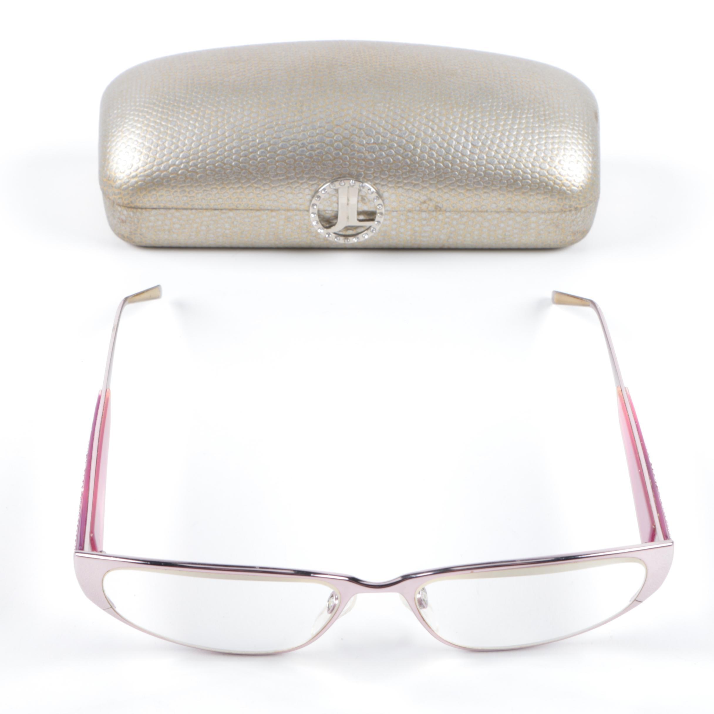 Judith Leiber Rhinestone Embellished Prescription Eyeglasses