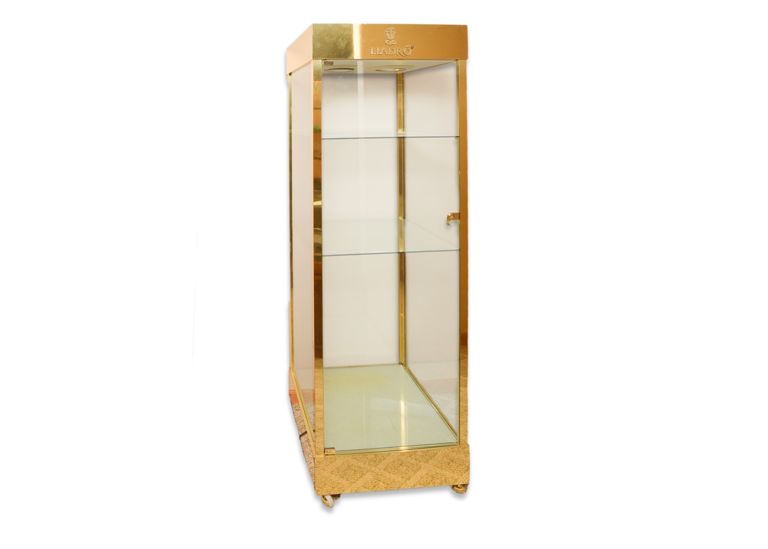 Metal and Glass Retail Display Cabinet by Lladró