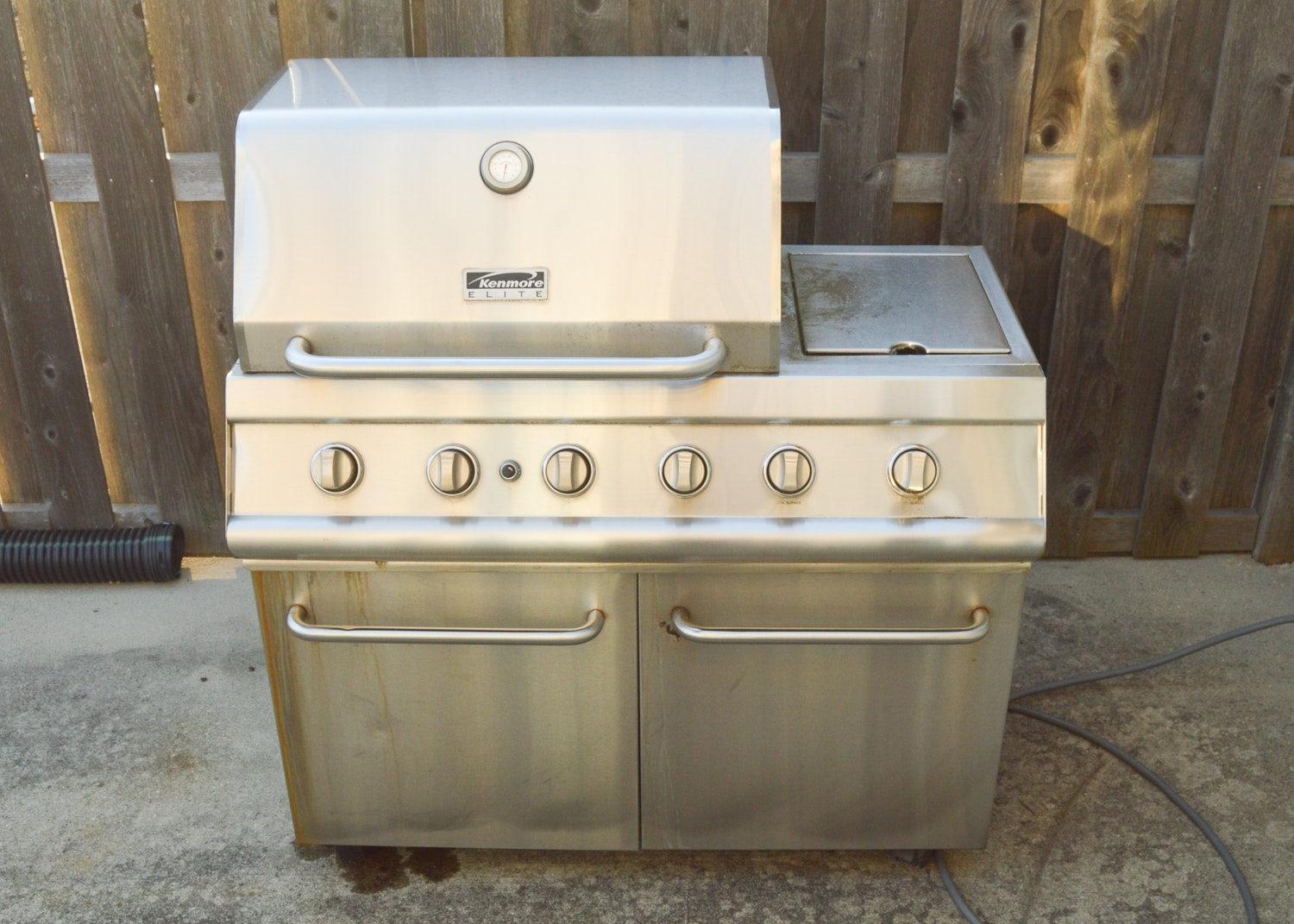 Kenmore Elite Stainless Steel Gas Grill with External Burner
