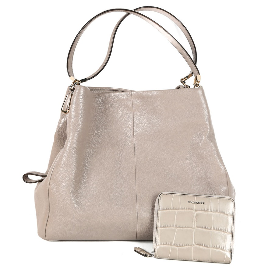 b94ca2b29627 Coach Madison Phoebe Leather Handbag and a Coach Wallet   EBTH