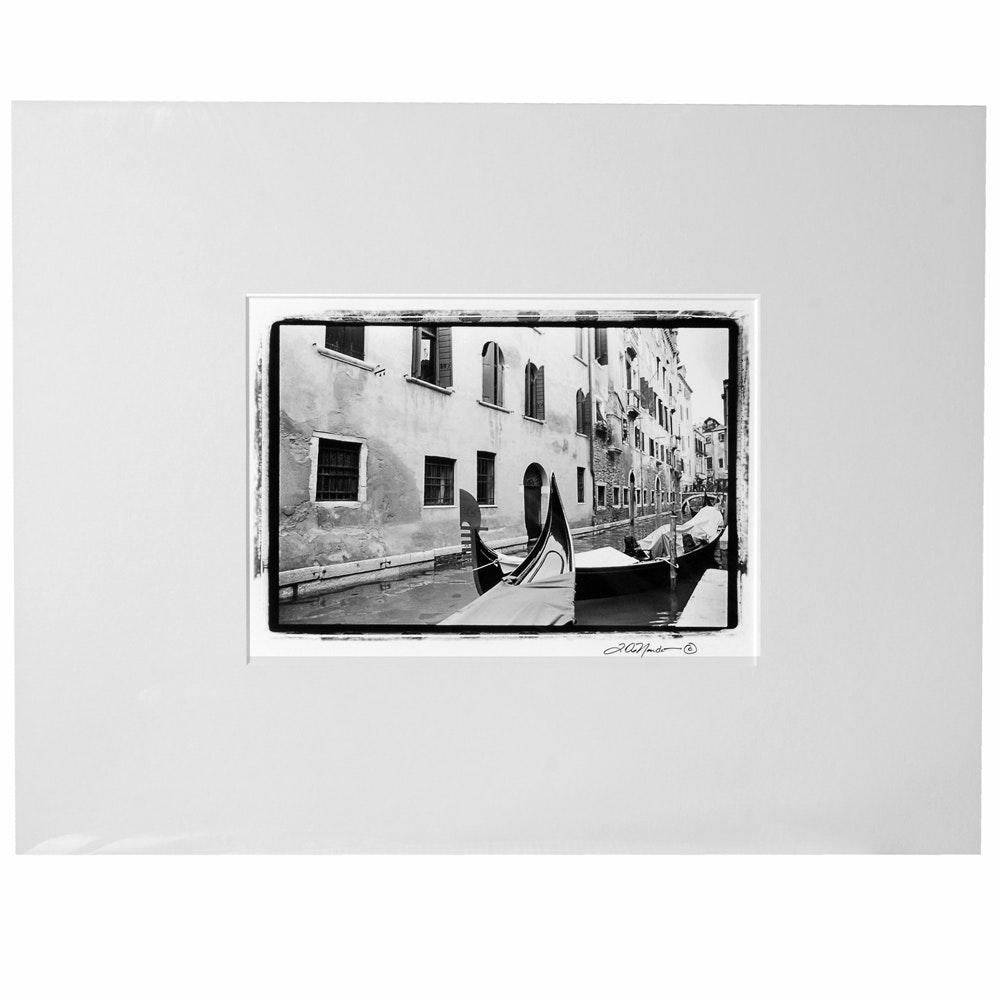"Laura DeNardo Silver-Gelatin Photographic Print ""Italian Gondola"""
