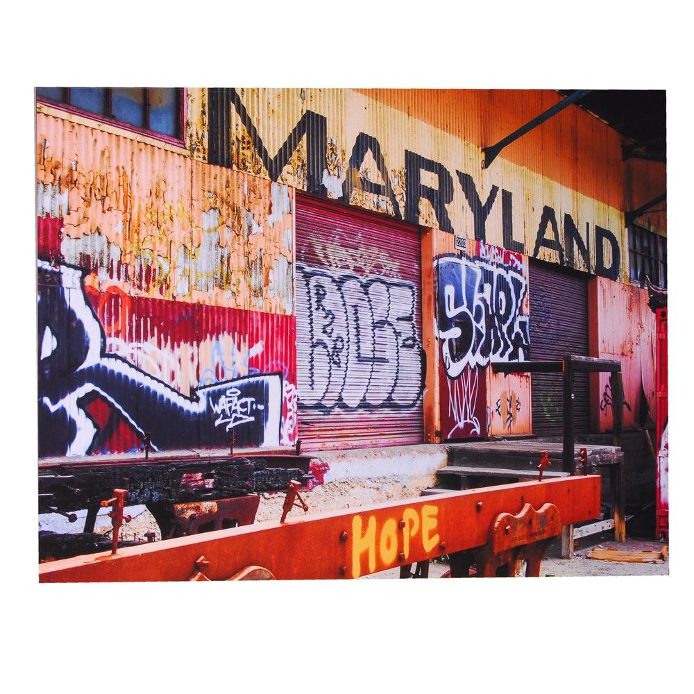 Ron Dickey Photograph of Graffiti