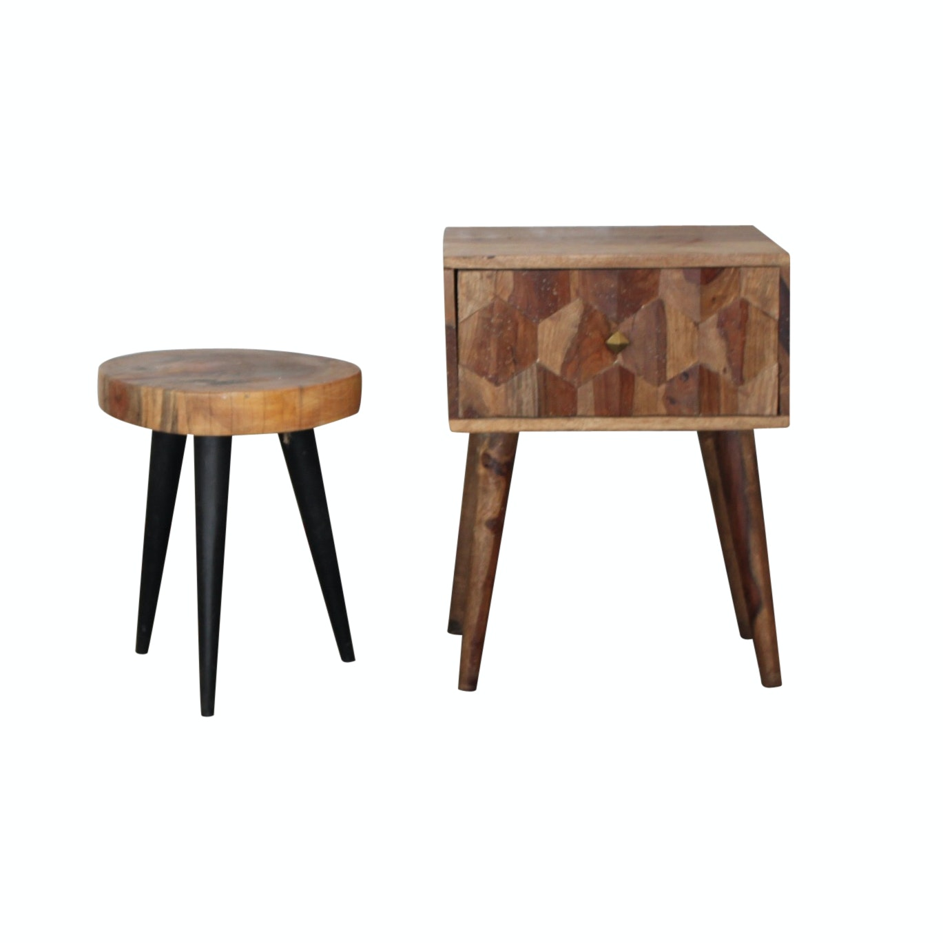 Contemporary Exotic Hardwood Accent Tables
