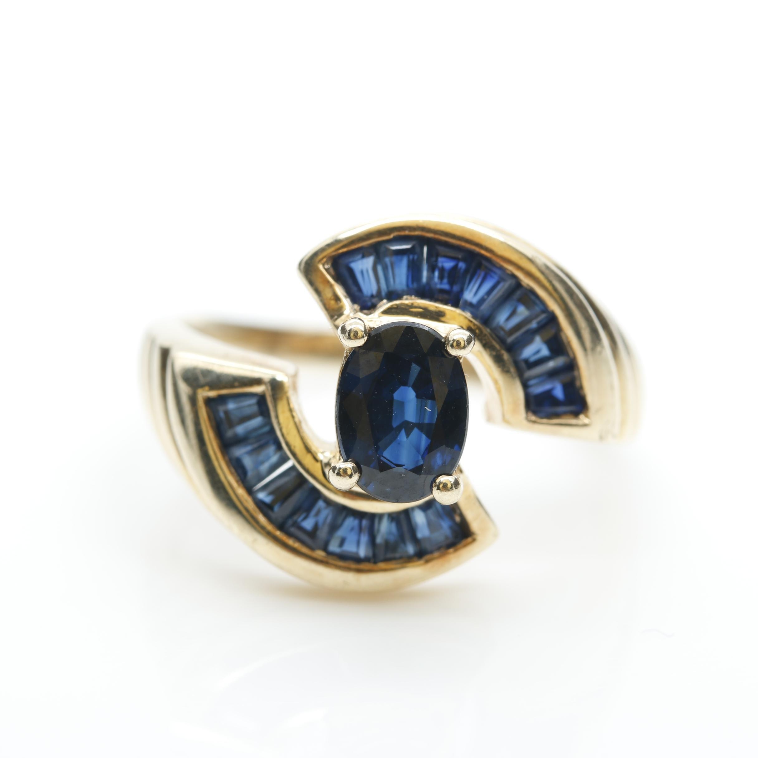 10K Yellow Gold Sapphire Ring