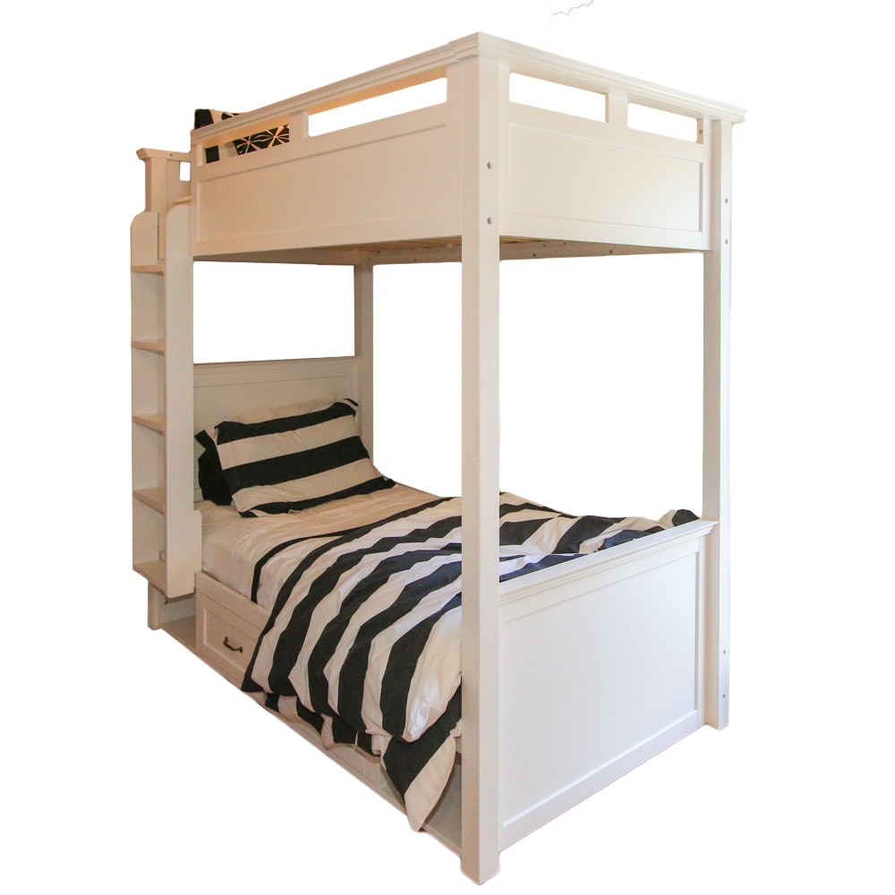 White Bunk Bed Frame