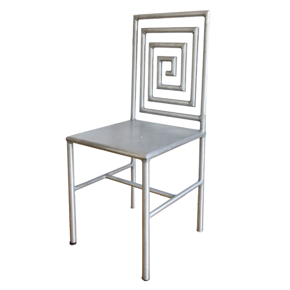 Contemporary Concentric Metal Chair