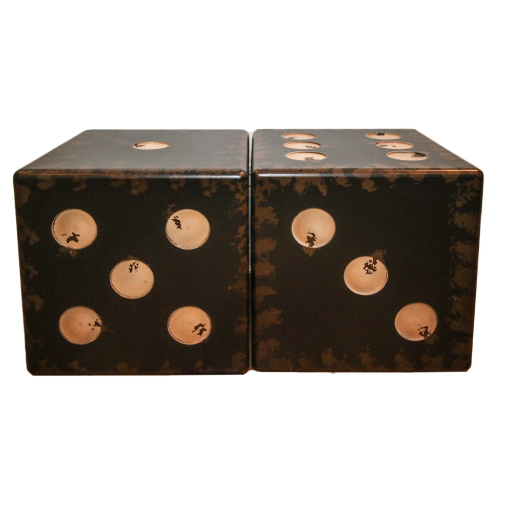 Pair of Wooden Table Dice