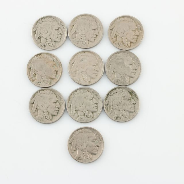 Ten Buffalo Nickels