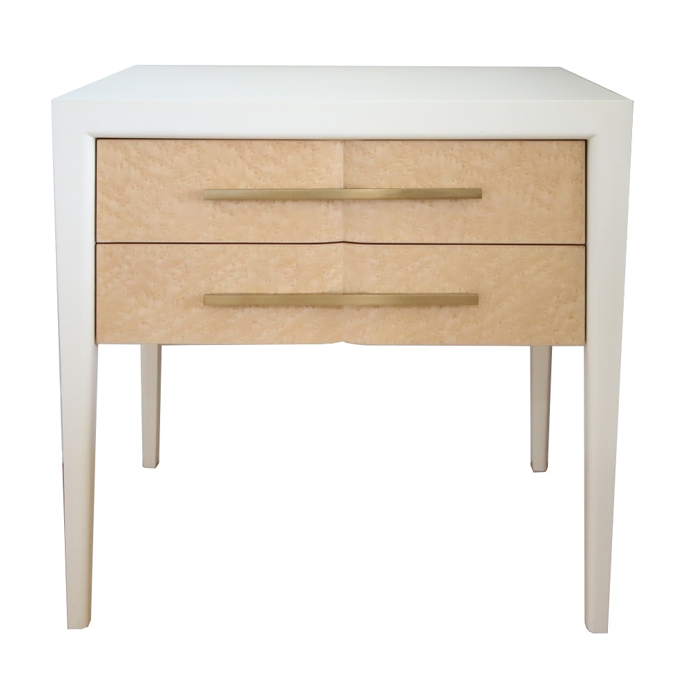 Contemporary Birds Eye Maple Nightstand