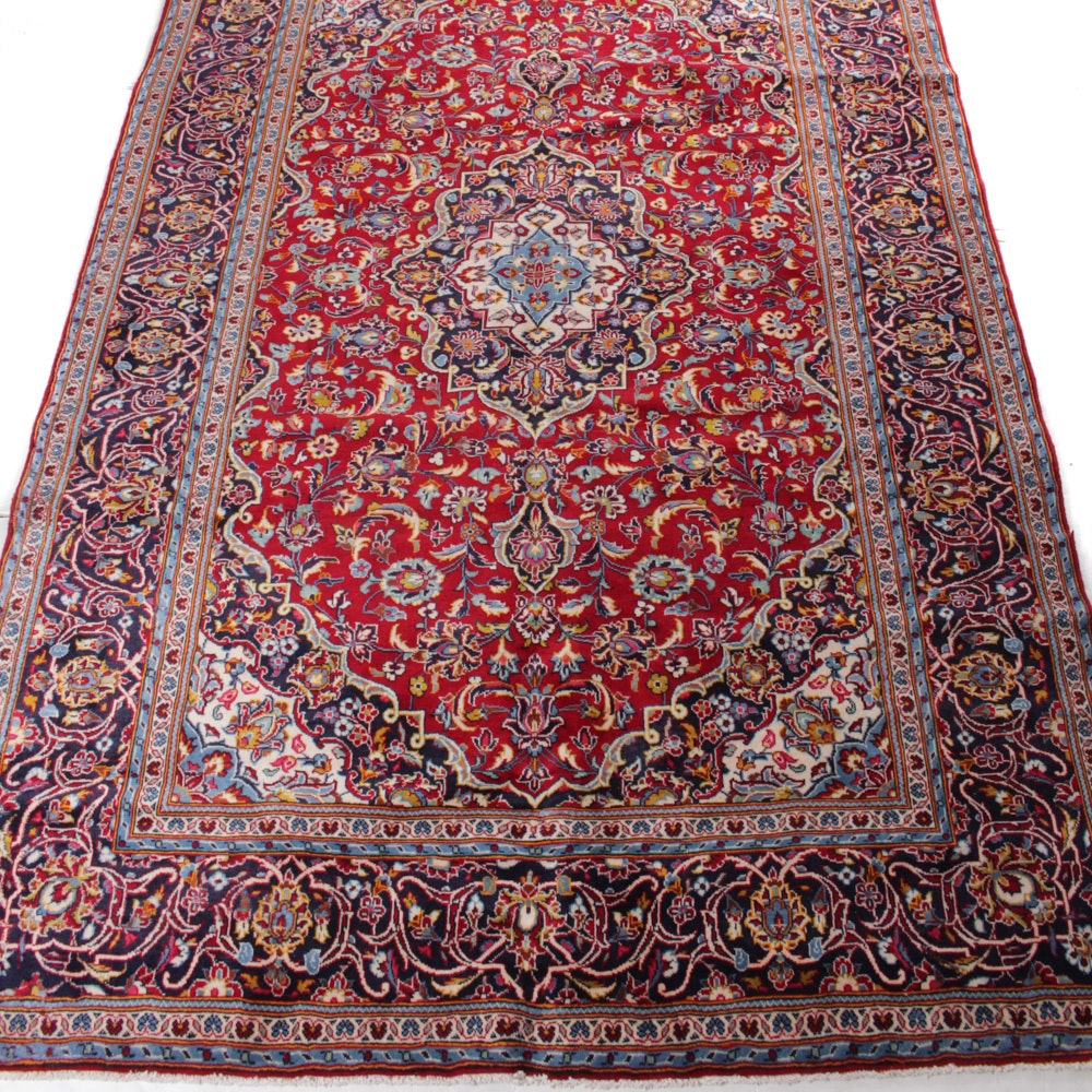 6' x 10' Fine Hand-Knotted Persian Kashan Rug