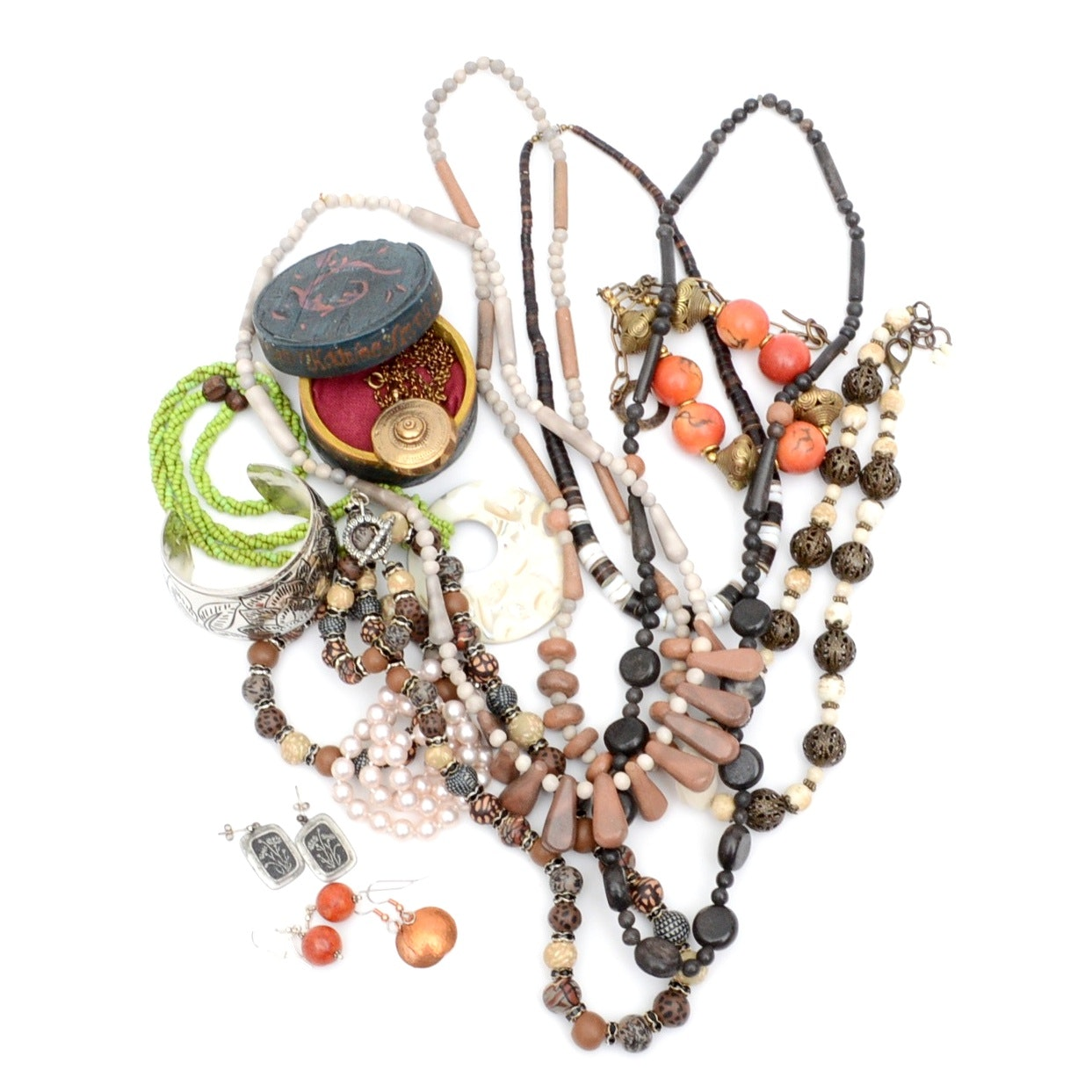 Collection of Bohemian Style Necklaces and More