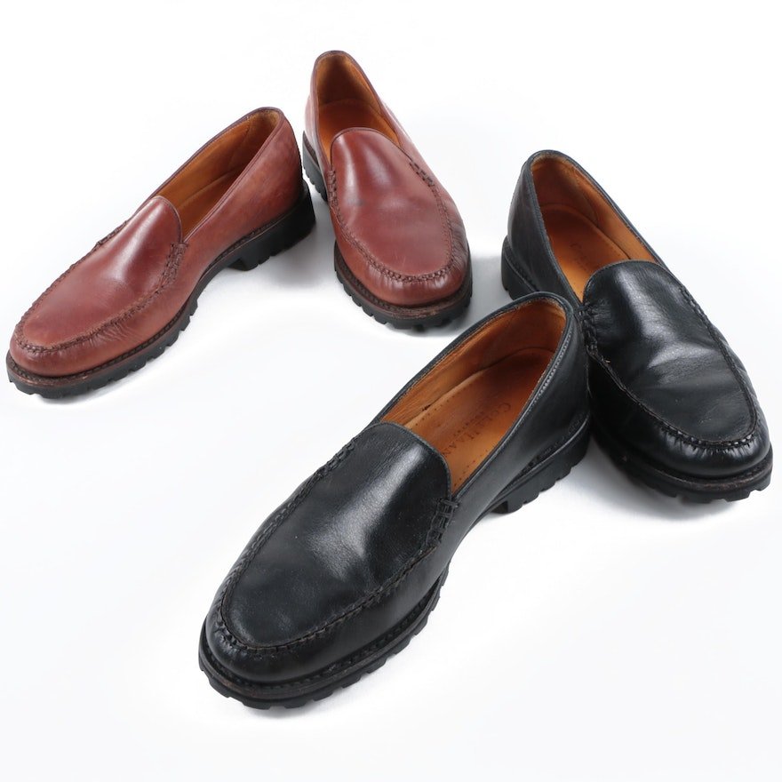 91b3ae075bb Women s Cole Haan Brown and Black Leather Loafers   EBTH