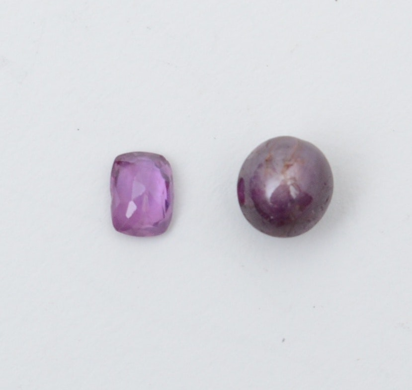 5.49 CT Star Ruby and 1.30 CT Pink Sapphire Gemstones