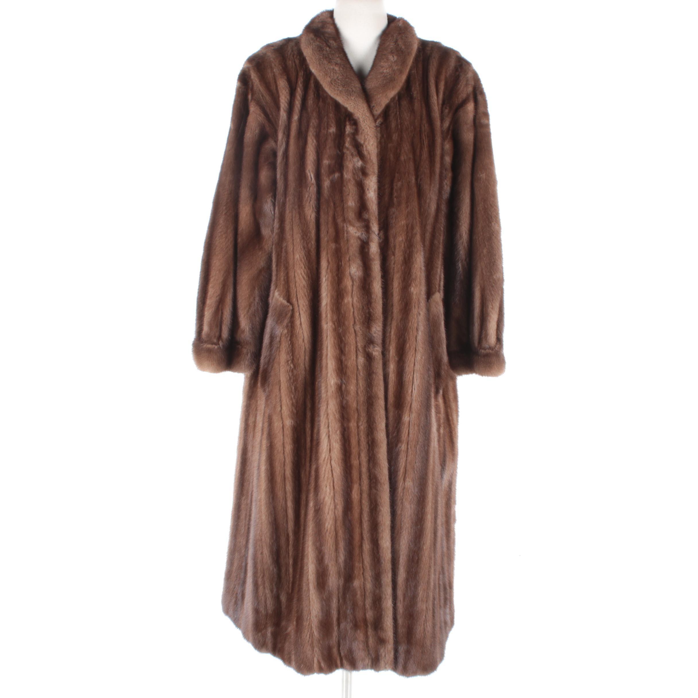 Women's Alixandre New York Brown Mink Fur Coat