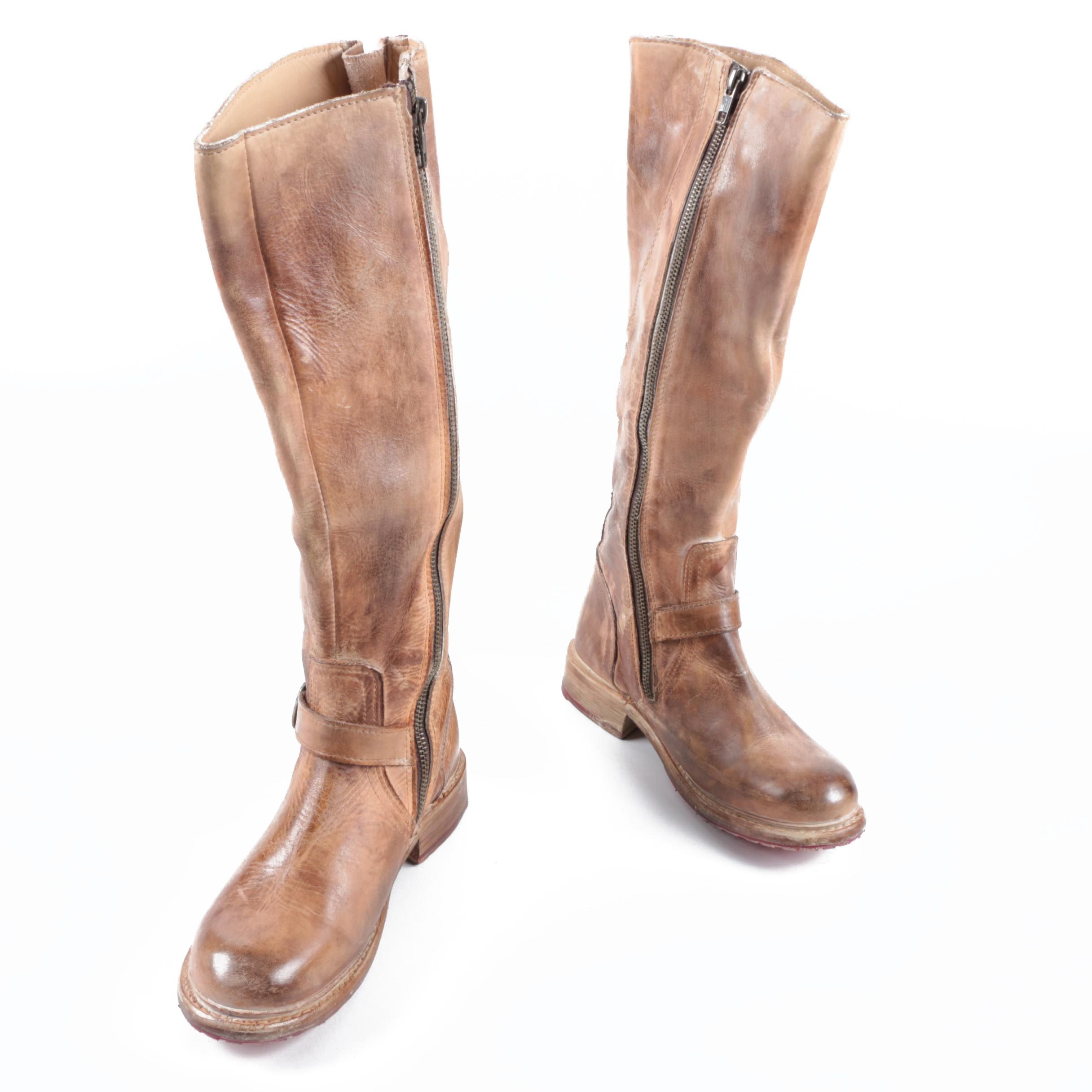Women's Bed Stü Glaye Bench-Made Leather Riding Boots