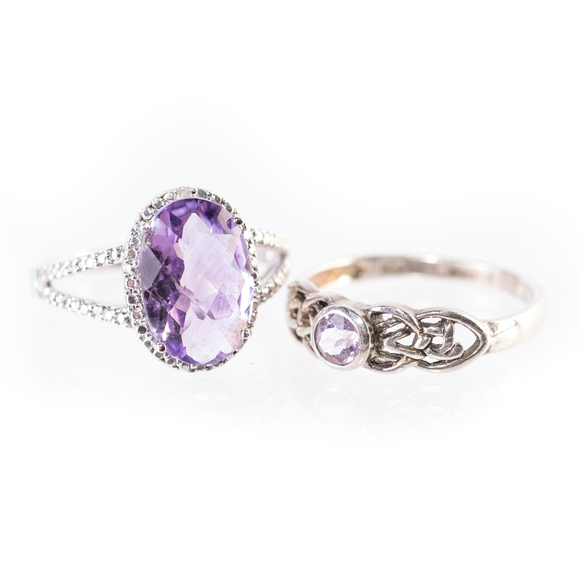 Sterling Silver and Amethyst Rings