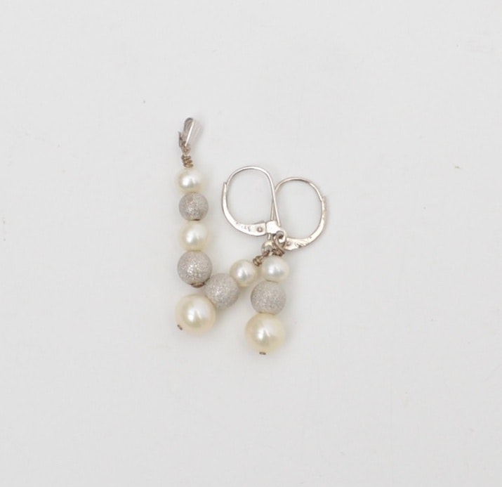 14K Cultured Pearl Pendant and Earrings