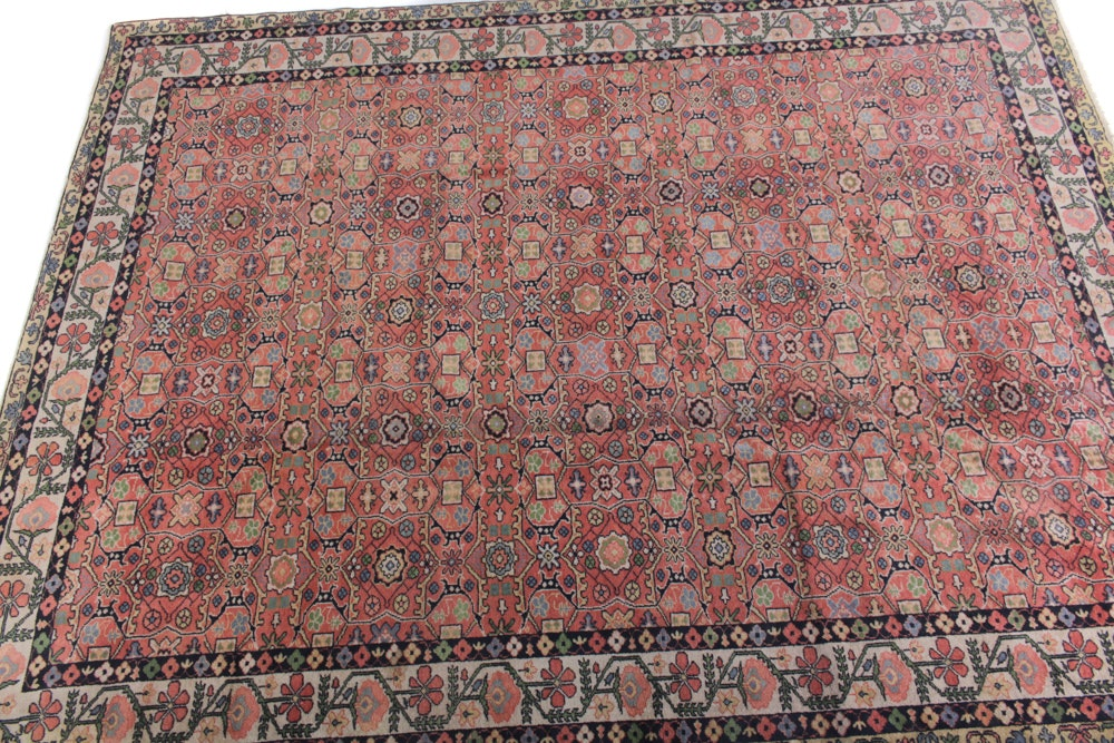 10' x 13' Antique Hand-Knotted Turkish Oushak Rug