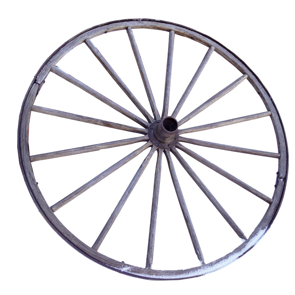 Wooden Wagon Wheel with Metal Hardware