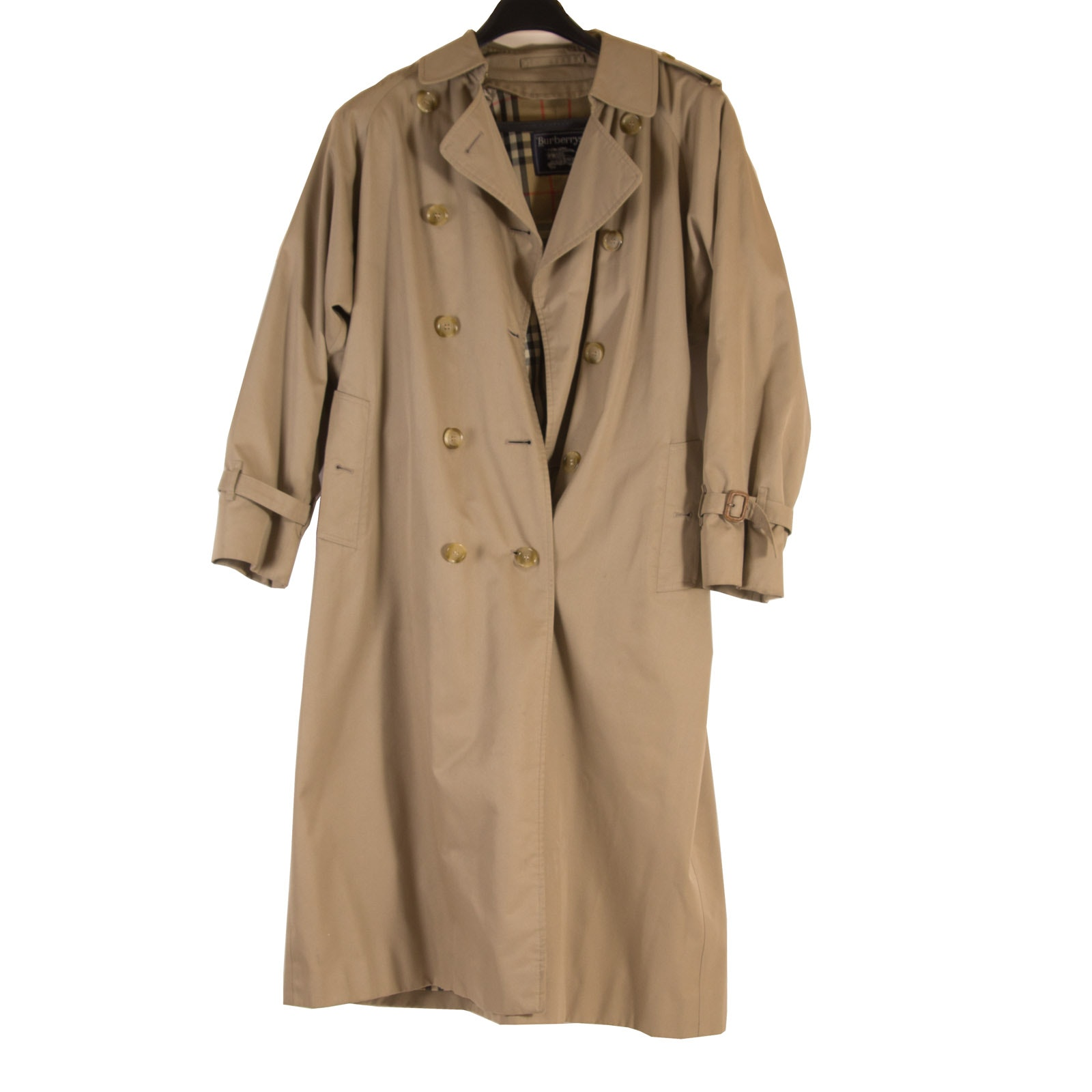 Women's Burberrys Cotton Gabardine Trench Coat with Removable Wool Lining