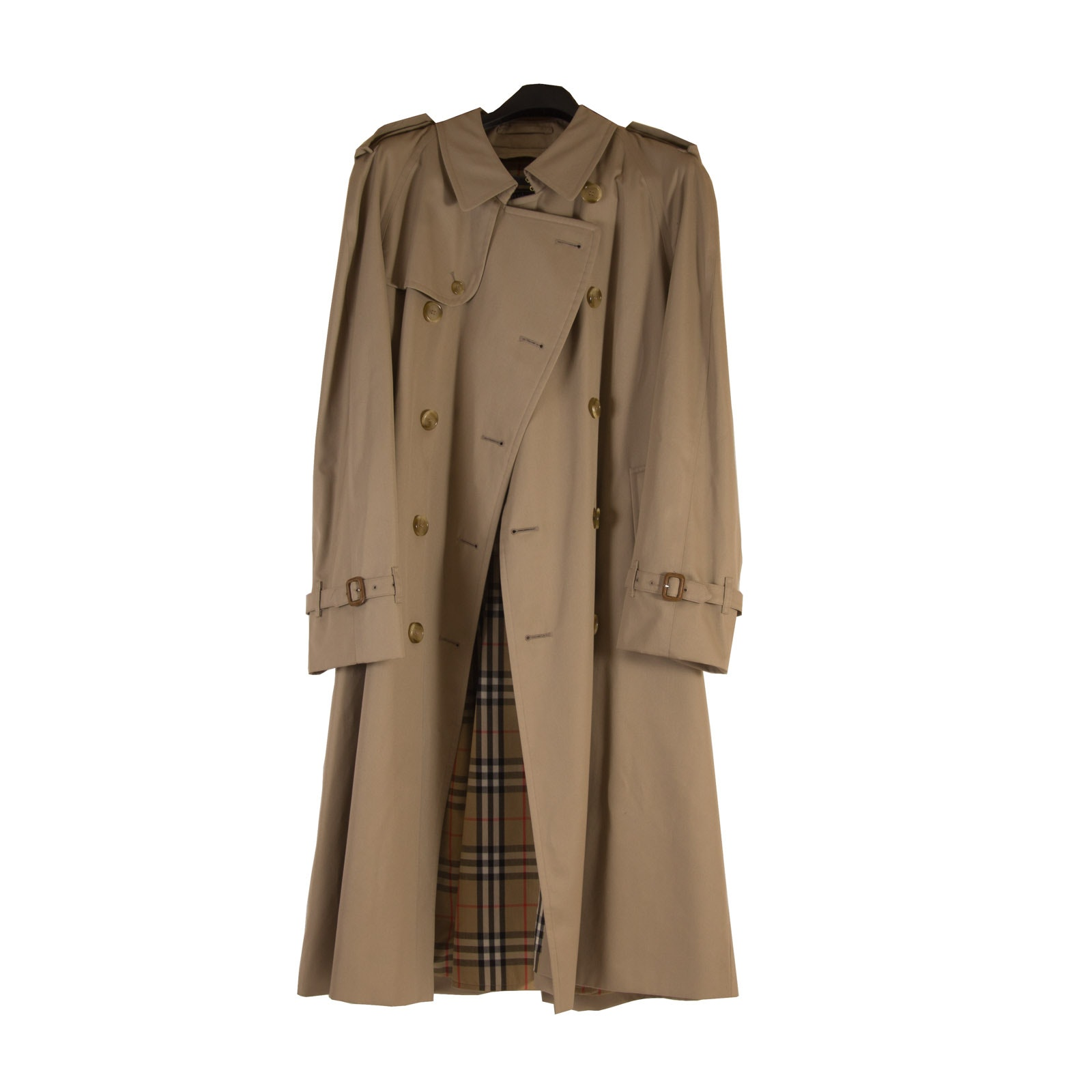 Men's Burberrys Cotton Gabardine Trench Coat with Removable Wool Lining