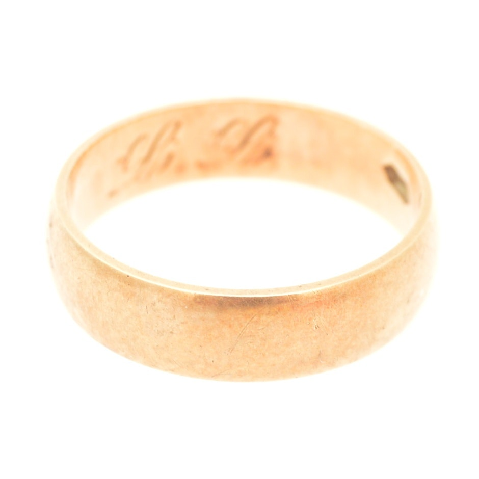 Antique 14K Yellow Gold Band