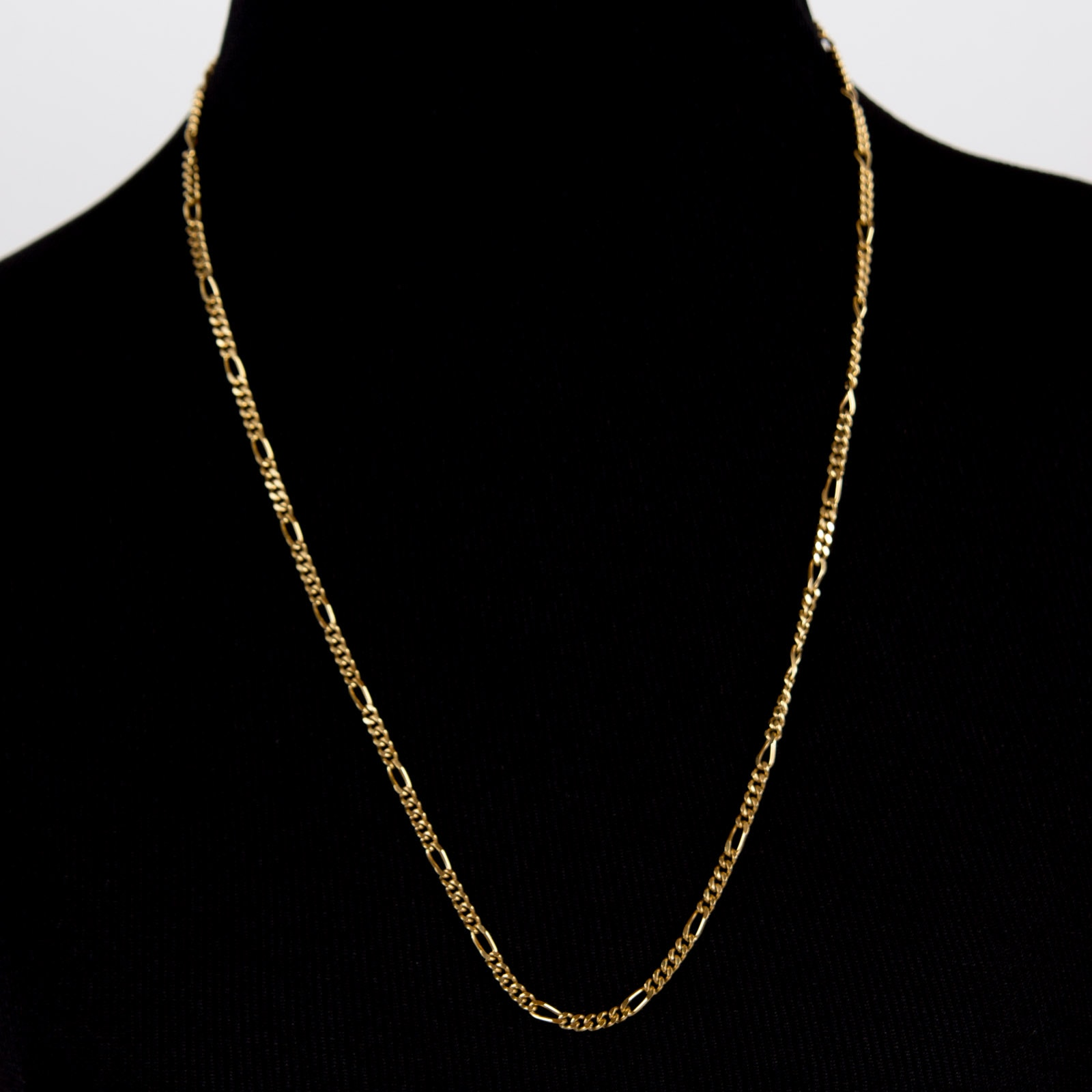 18K Yellow Gold Chain with 14K Yellow Gold Clasp