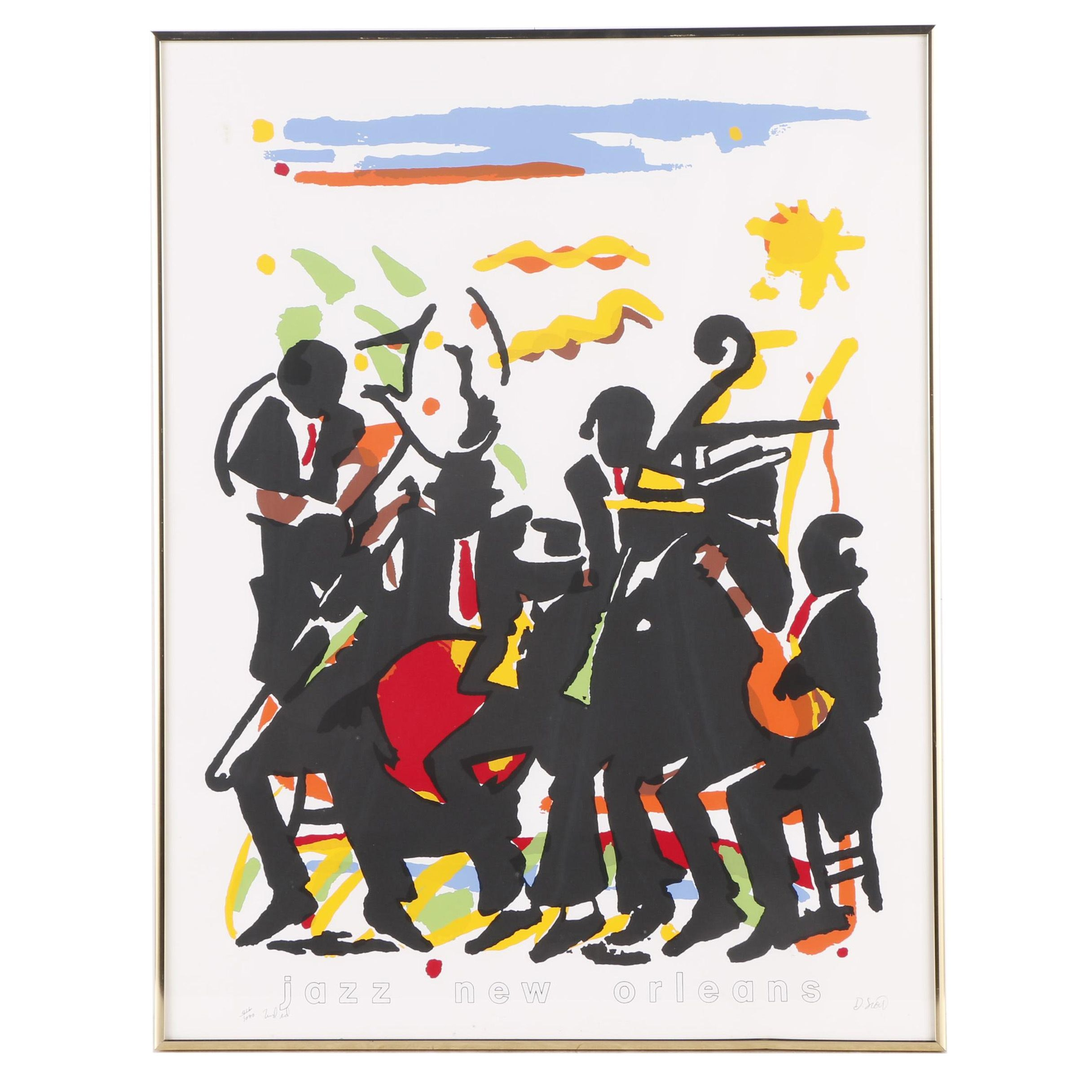"D.S. Serigraphic Poster ""Jazz New Orleans"""