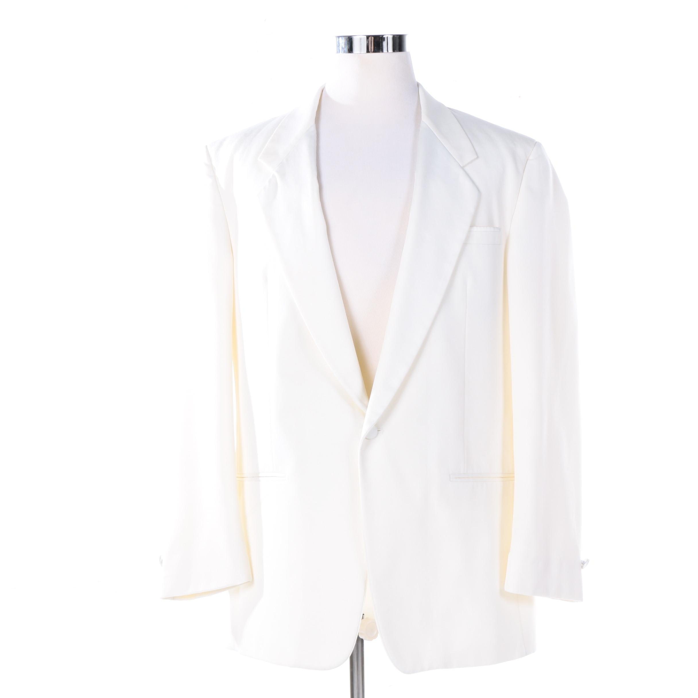 Men's Christian Dior Le Connaisseur White Formal Jacket