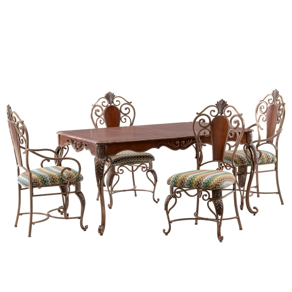 Contemporary Queen Anne Style Dining Set