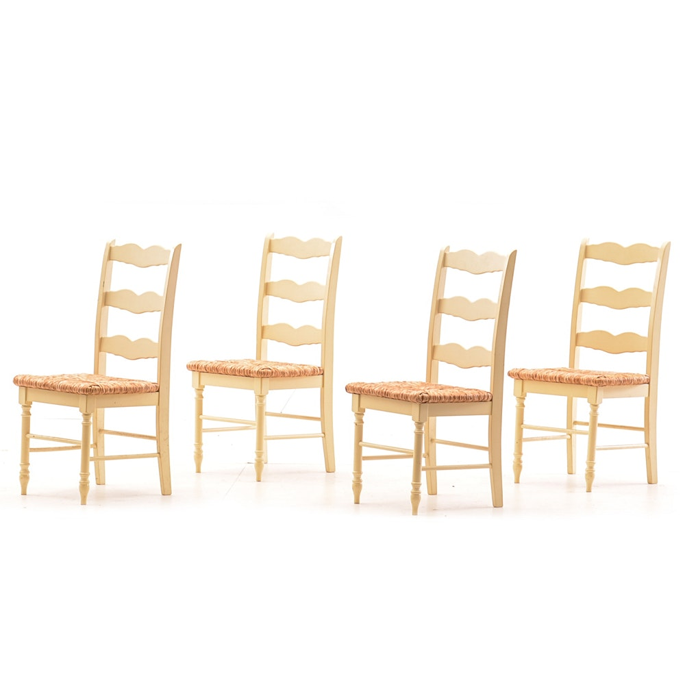 Collection of Slat Back Rush Seat Side Chairs