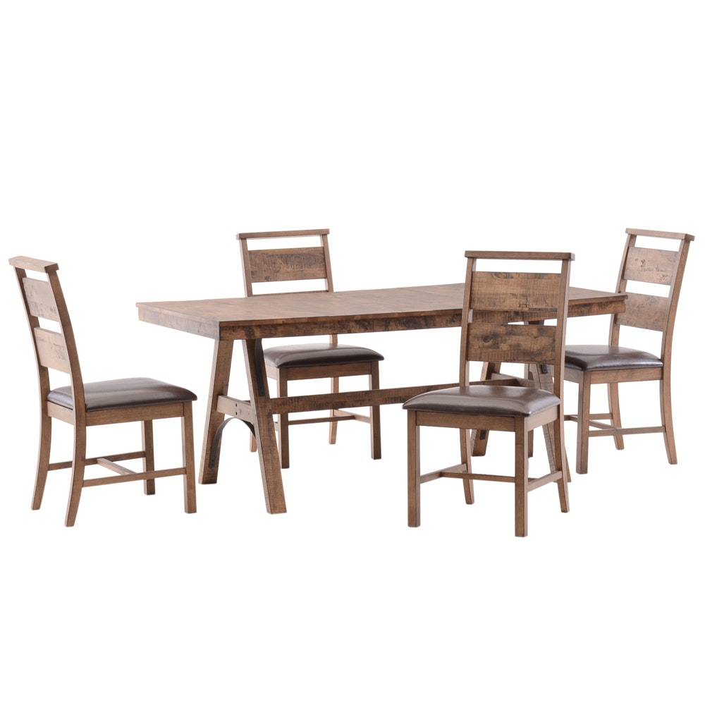 Contemporary Arts and Crafts Style Dining Set