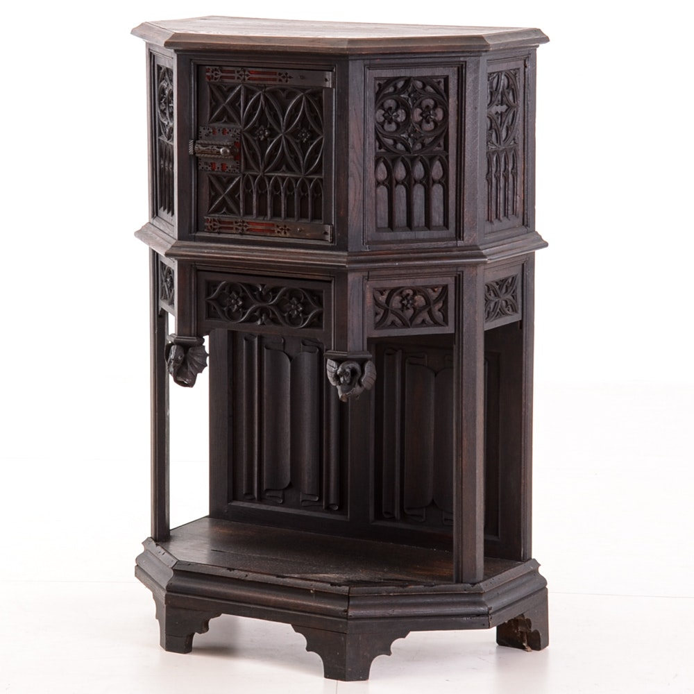 Gothic Revival Style Cabinet