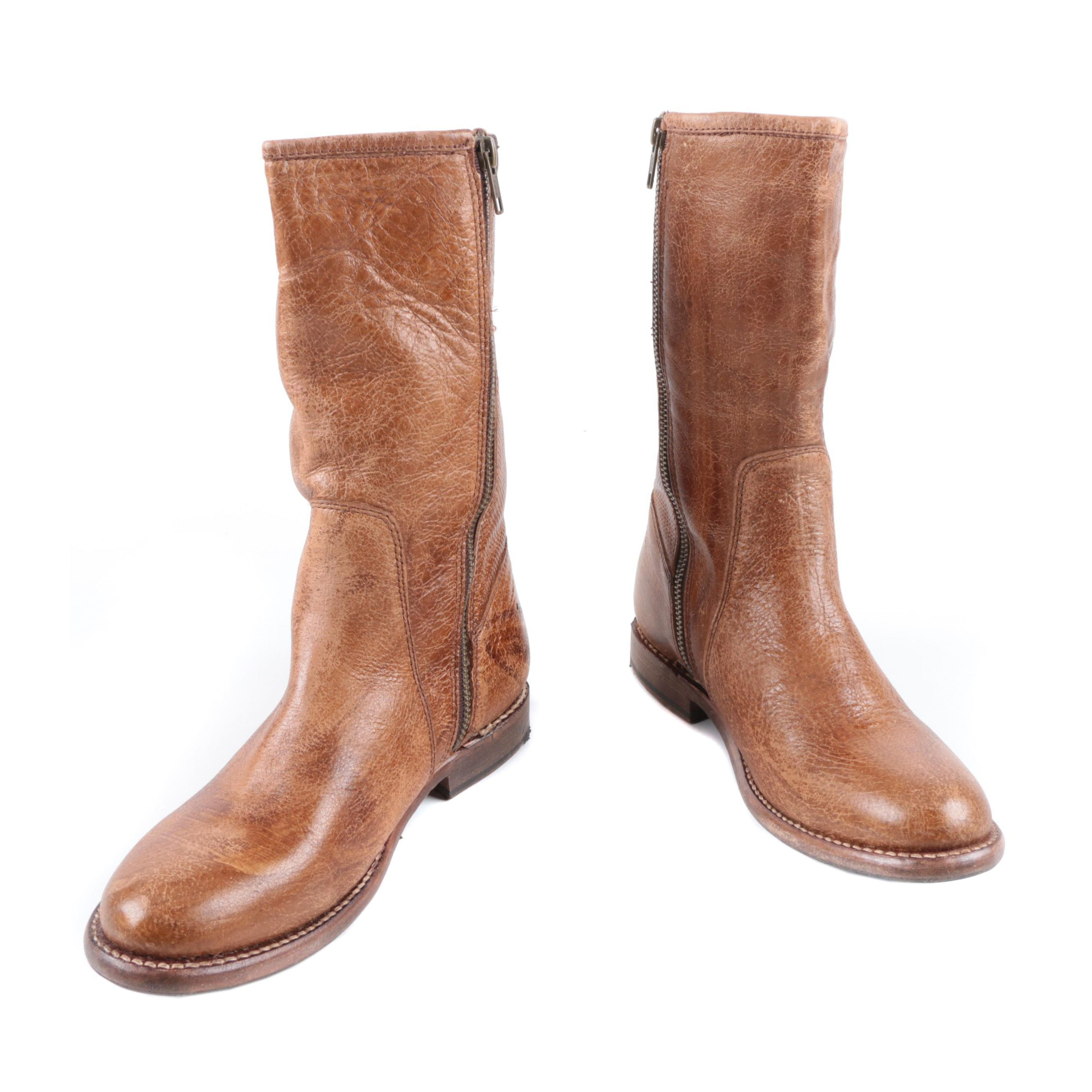 Women's Bed Stü Annette Bench-Made Leather Short Boots